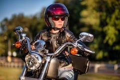 Ragazza del motociclista Immagine Stock Libera da Diritti
