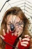 Ragazza del ragno Fotografia Stock