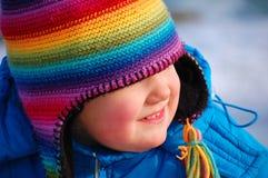 Ragazza del Rainbow Immagini Stock