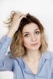 Ragazza del ritratto, capelli emendati Fotografia Stock Libera da Diritti