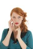 Ragazza del ritratto con capelli rossi Fotografia Stock