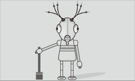 Ragazza del robot fotografia stock