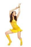 Ragazza del sesso in un vestito giallo Immagine Stock Libera da Diritti