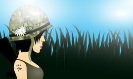 Ragazza del soldato illustrazione vettoriale