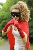 Ragazza del supereroe fotografie stock