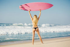 Ragazza del surfista di Blode fotografia stock