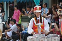 Ragazza del tamburo di parata Fotografia Stock Libera da Diritti