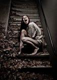 Ragazza del vampiro Fotografia Stock