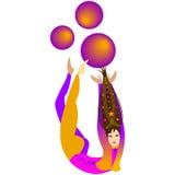 Ragazza dell'acrobata di circo Immagine Stock