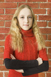 Ragazza dell'adolescente di felicità Fotografia Stock