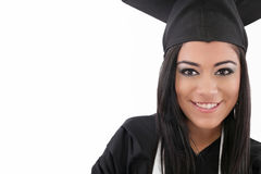 Ragazza dell'allievo di laurea Immagini Stock Libere da Diritti