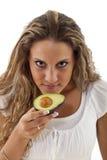 Ragazza dell'avocado Fotografie Stock Libere da Diritti