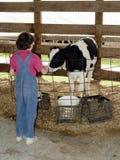 Ragazza dell'azienda agricola Fotografia Stock
