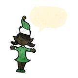 ragazza dell'elfo di natale del fumetto Fotografia Stock Libera da Diritti