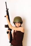 Ragazza dell'esercito Fotografie Stock