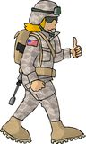 Ragazza dell'esercito americano illustrazione di stock