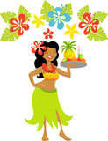 Ragazza dell'Hawai Luau Immagini Stock