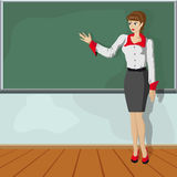 Ragazza dell'insegnante Immagini Stock Libere da Diritti