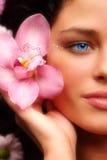 ragazza dell'orchidea Immagine Stock
