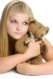 Ragazza dell'orso dell'orsacchiotto Immagine Stock Libera da Diritti