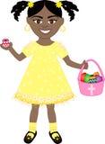 Ragazza dell'uovo di Pasqua Immagine Stock