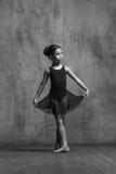 Ragazza della ballerina che posa nello studio di ballo immagine stock
