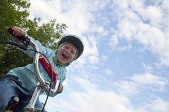 Ragazza della bici Fotografia Stock