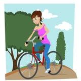 ragazza della bicicletta illustrazione vettoriale