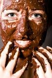 Ragazza della caramella del Brown Fotografia Stock