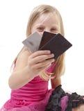 Ragazza della carta di credito Fotografie Stock Libere da Diritti