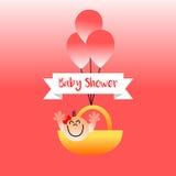 Ragazza della doccia di bambino Immagini Stock Libere da Diritti