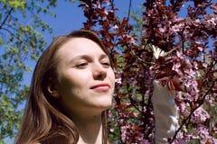 ragazza della farfalla Fotografia Stock Libera da Diritti