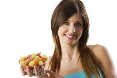 Ragazza della frutta di forma fisica immagine stock