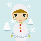 Ragazza della neve royalty illustrazione gratis