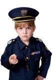 Ragazza della polizia in servizio Immagini Stock Libere da Diritti