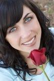 Ragazza della Rosa Fotografia Stock