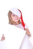 Ragazza della Santa con una bandiera Fotografia Stock