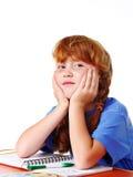 Ragazza della scuola elementare Fotografie Stock