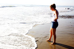 Ragazza della spiaggia fotografia stock