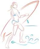 Ragazza della spiaggia royalty illustrazione gratis