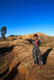 Ragazza della tribù Dorze, vicino ad Arba Minch in Etiopia del sud P Immagini Stock Libere da Diritti