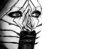 Ragazza della zebra Immagine Stock