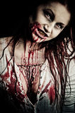 Ragazza delle zombie Immagini Stock