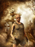 Ragazza delle zombie Fotografie Stock Libere da Diritti