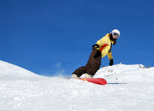 Ragazza dello Snowboard Fotografie Stock Libere da Diritti