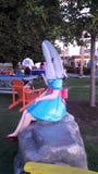 Ragazza dello squalo Fotografia Stock