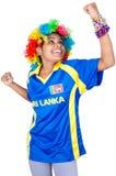 Ragazza dello Sri Lanka della squadra del grillo Fotografia Stock Libera da Diritti
