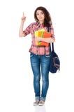 Ragazza dello studente che indica su Fotografia Stock Libera da Diritti