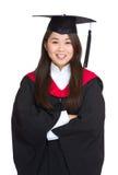 Ragazza dello studente di laurea in un abito accademico Fotografia Stock Libera da Diritti