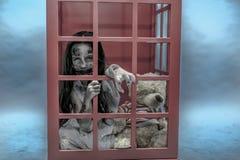 Ragazza dello zombie Immagini Stock